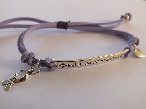 Not All Those Who Wander Are Lost Recovery Mental Health Bracelet
