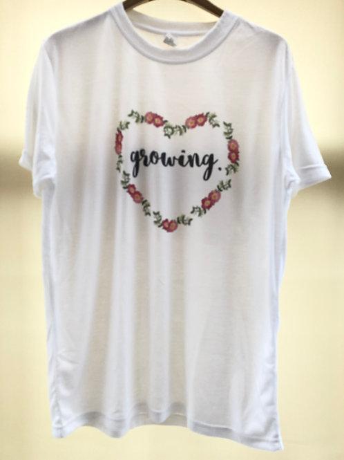 'Growing' motivational tee shirt