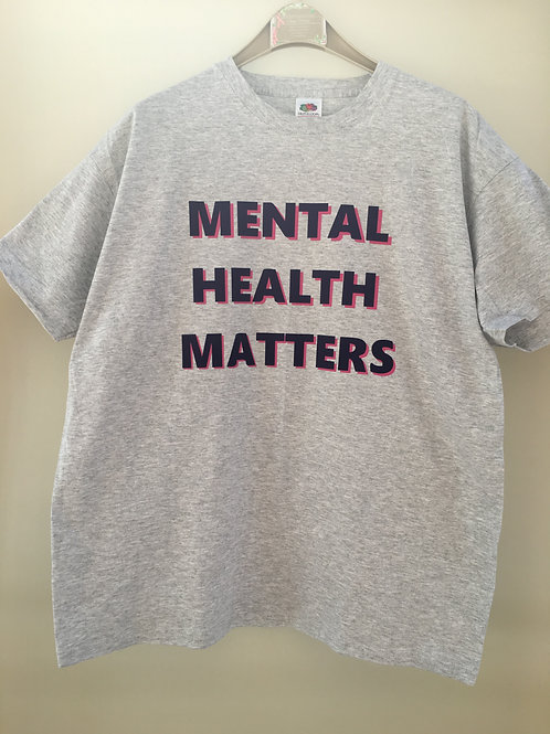 'Mental Health Matters' T-Shirt ( Rose Pink/Purple Vinyl)Long sleeve available