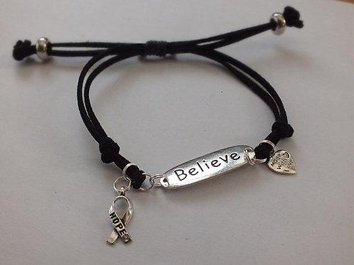 Believe Mental Health Recovery Bracelet (Suede)
