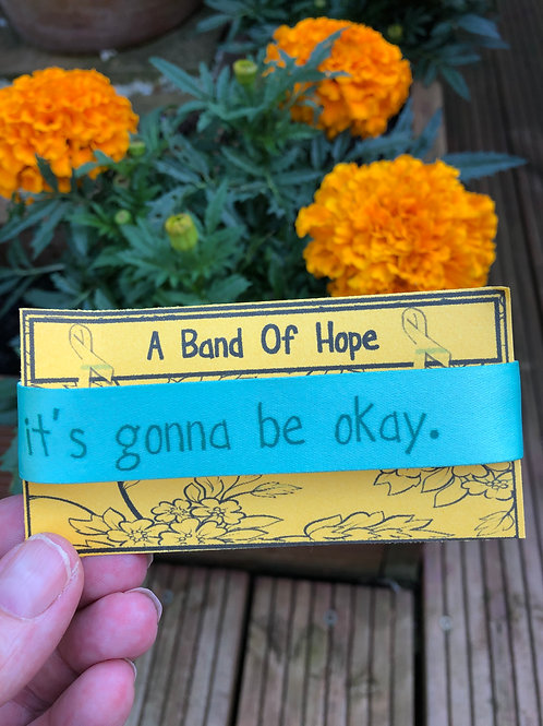 'it's gonna be okay' Fabric Adjustable Wristband