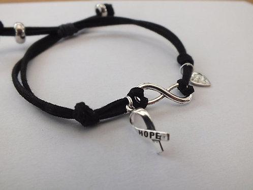"Mental Health Awareness Bracelets Faux Suede (""Infinity"")"