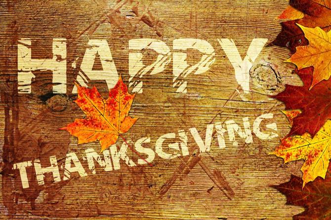 HAPPY THANKGIVING!