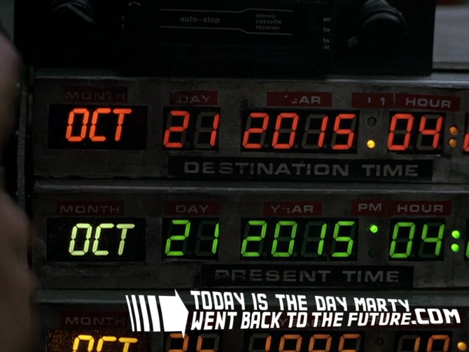 Happy Back to the Future Day! Yes, it's finally here.
