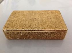 John Linnit 18ct gold snuff box