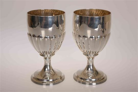 A Fine Pair of George III Goblets
