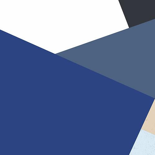 Blue Colorblock 1