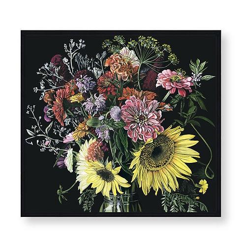 Dark Floral Study
