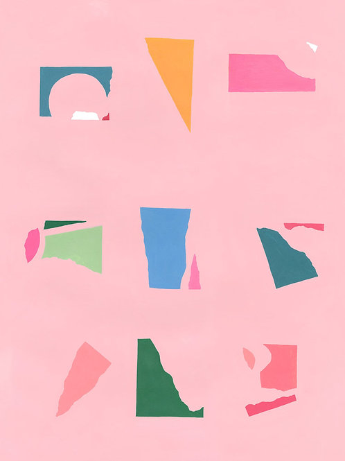 Floating Fragments on Pink 1