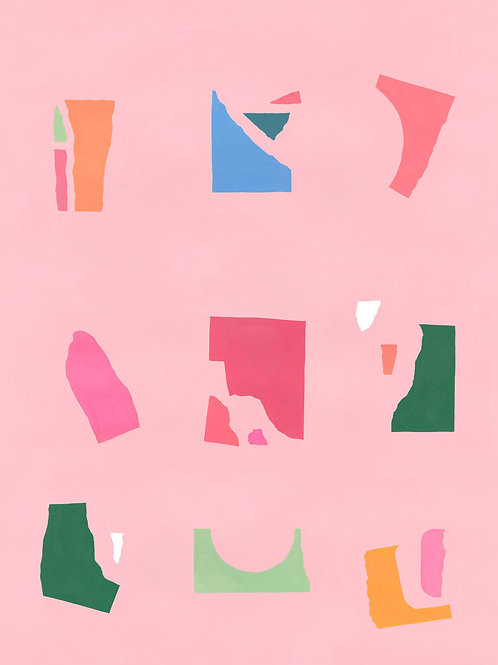 Floating Fragments on Pink 2