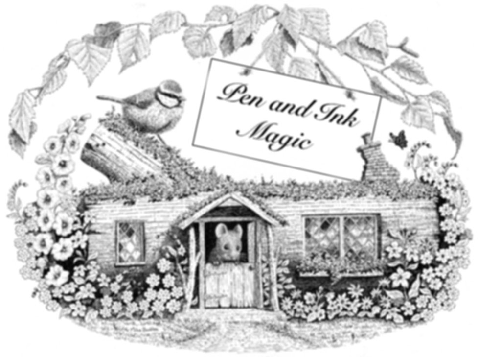 Log cabin | Pen and Ink | Pen and Ink Magic