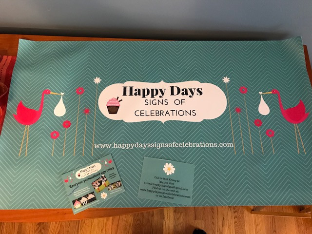 Happy Days Signs of Celebrations is a premier lawn sign rental business in New Berlin, WI that offers stork sign rentals to announce the birth of a new baby, adoption, proud grandparent, proud sibling, prop for baby showers or gender reveal parties.