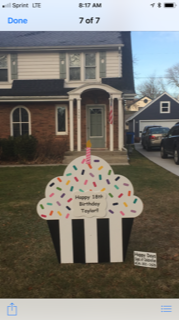 Birthday yard sign rentals, personalized to each person