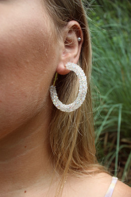 A Beautiful Day Sequin Hoop
