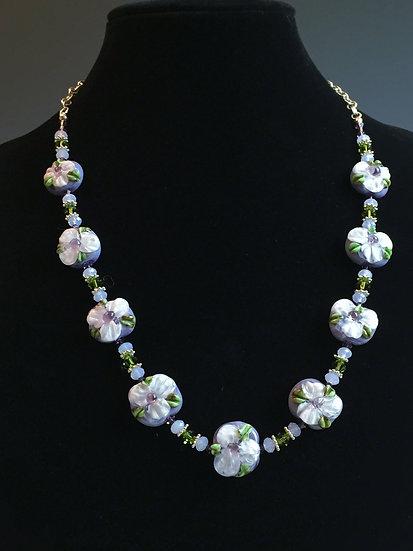 Lavender Floral Necklace