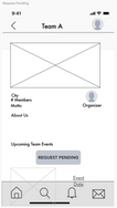 Request Pending Wireframe