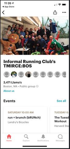 Meetup app screenshot