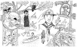 Hidden Picture - Boyscouts
