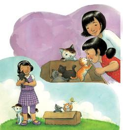 Kitten Math Story - left page
