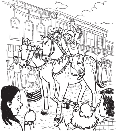 Virginia City Cowgirl and Cowboy on Parade.jpg