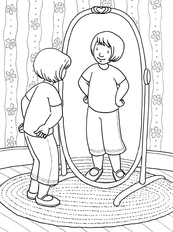 My Reflection Coloring Page