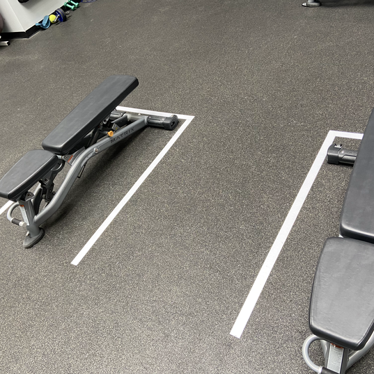 Benches 6ft apart