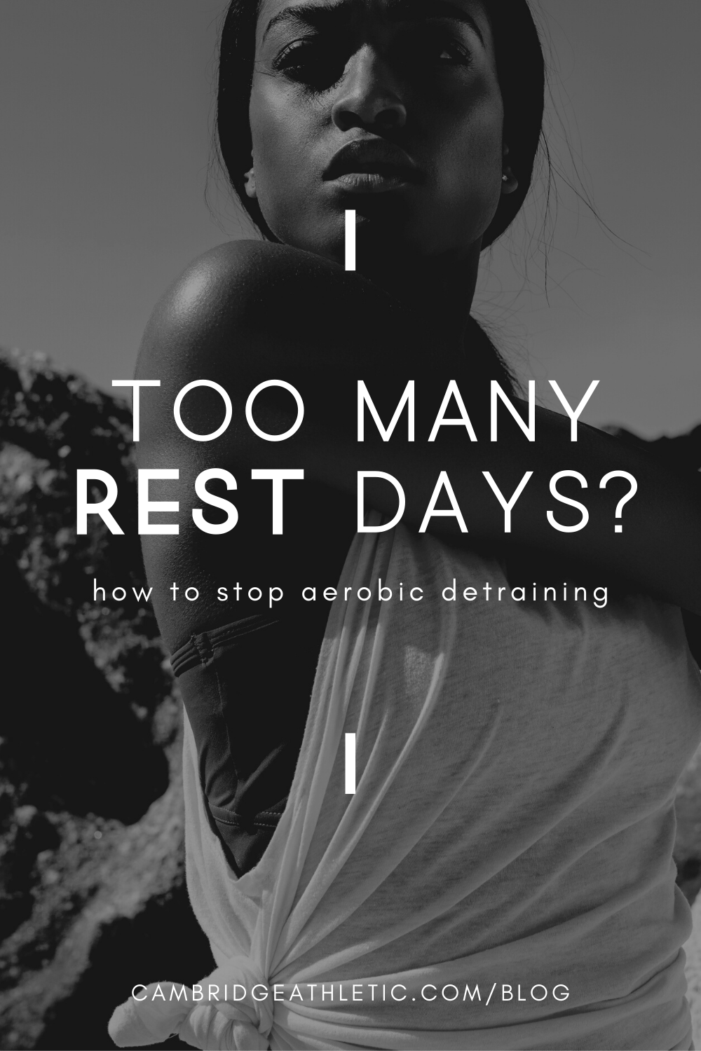 A woman stretching with the blog title overlaid.