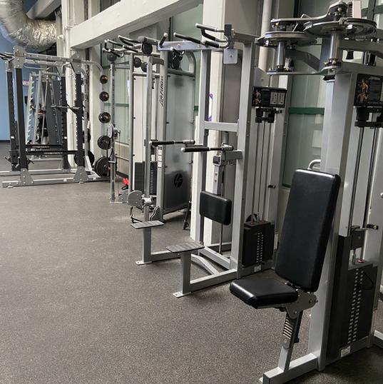 Weight machines plus squat racks