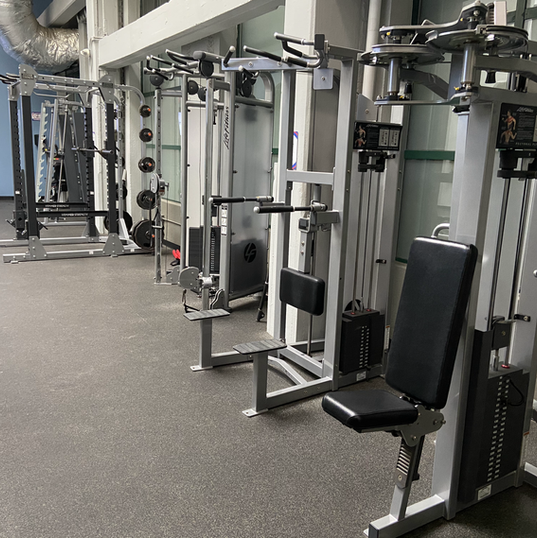 Weight machines plus squat racks