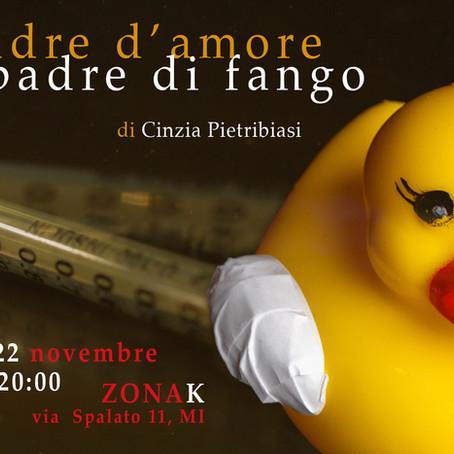Primo studio di PADRE D'AMORE PADRE DI FANGO a Milano. 21 e 22 novembre 2019