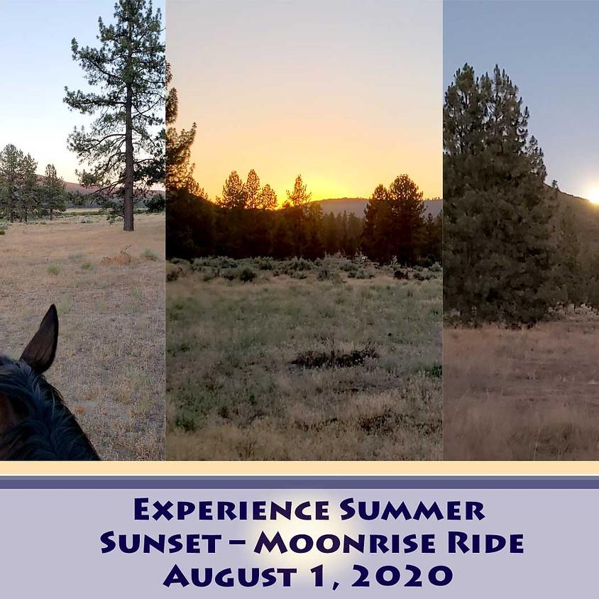 Summer Sunset/Moonrise Horse Ride