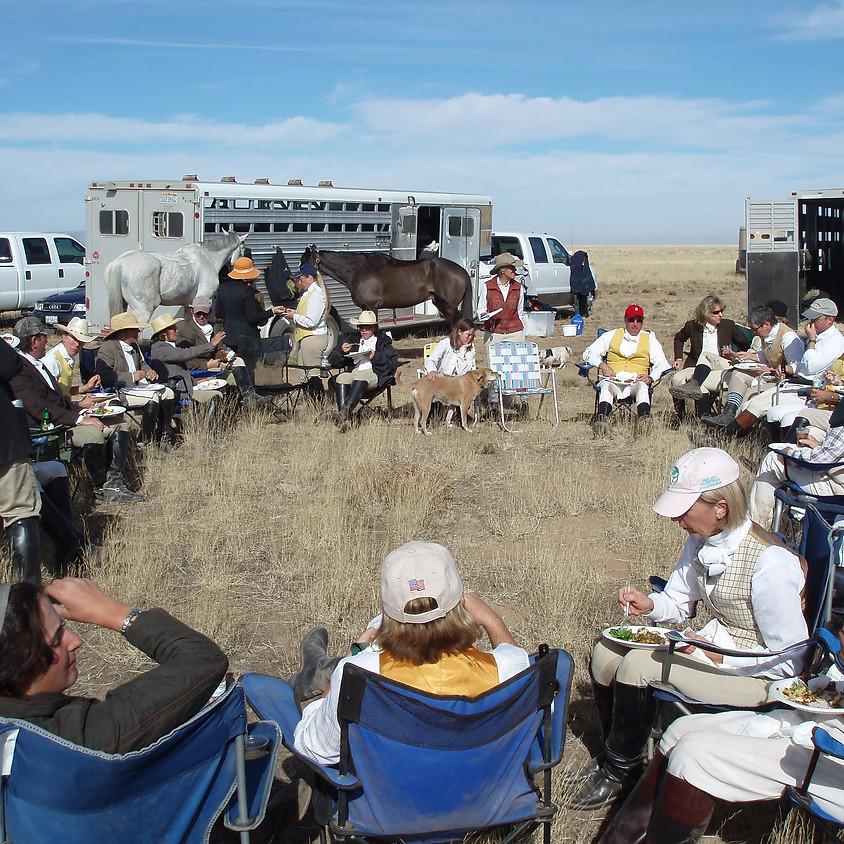 Punchbowl for Santa Fe Hunt's Closing Hunt at Garner Ranch