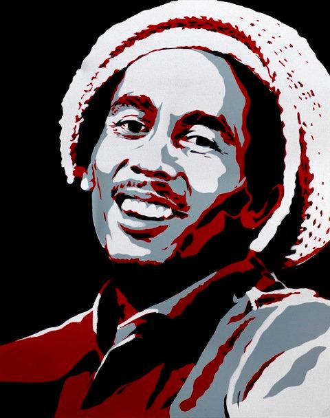 Bob Marley -Gray