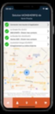 Application iOS Monsherif - Accueil
