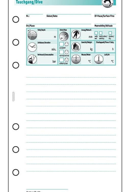 Nachfüllsatz Logbuch  Single 100TG