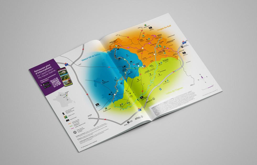 Carte touristique Destination 70 magazine