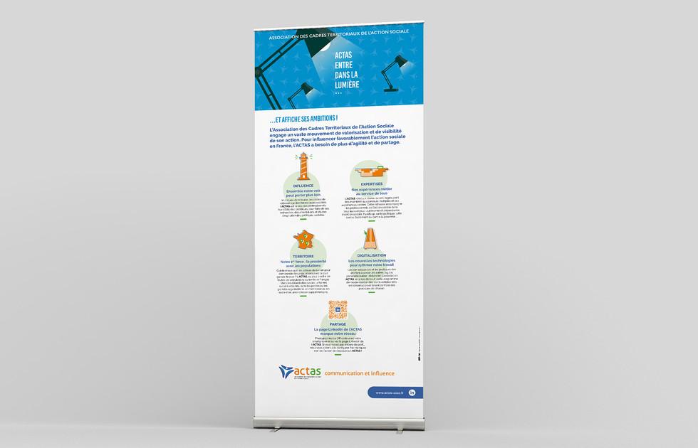 Roll up ACTAS stratégie de communication