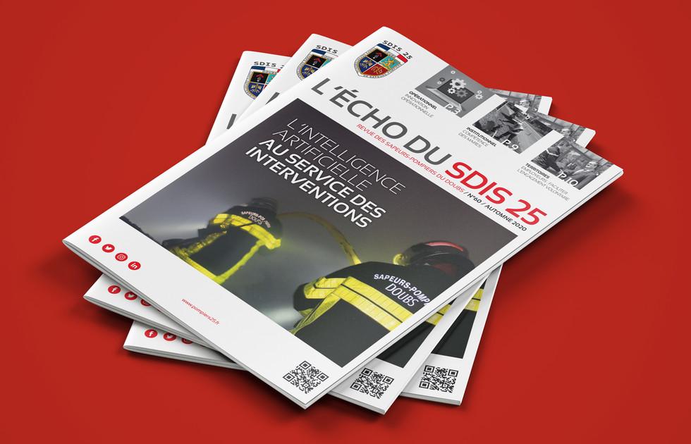 Magazine des sapeurs-pompiers du Doubs couverture