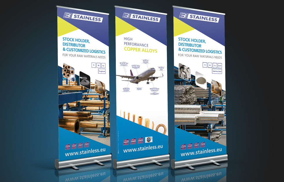 Roll Up Habillage de stand Stainless