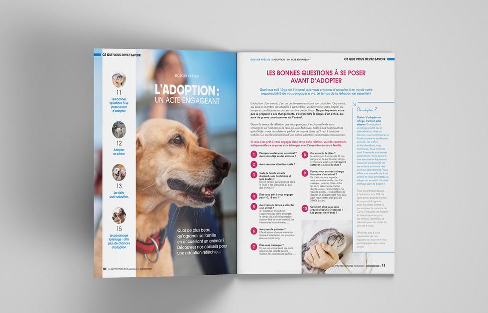 Revue La Protection des animaux - SPA de Lyon double page