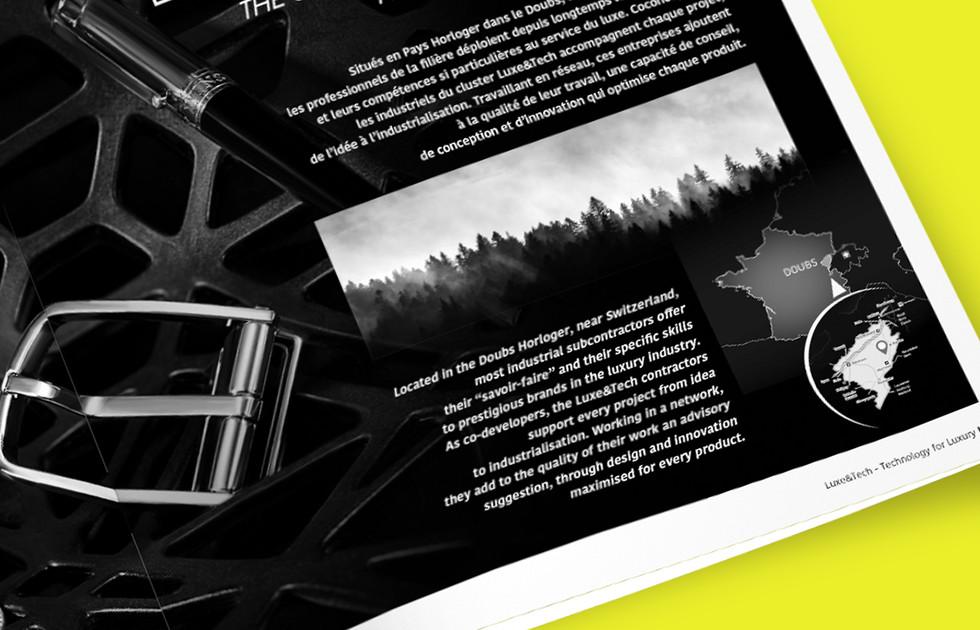 Brochure Luxe & Tech carte du Doubs