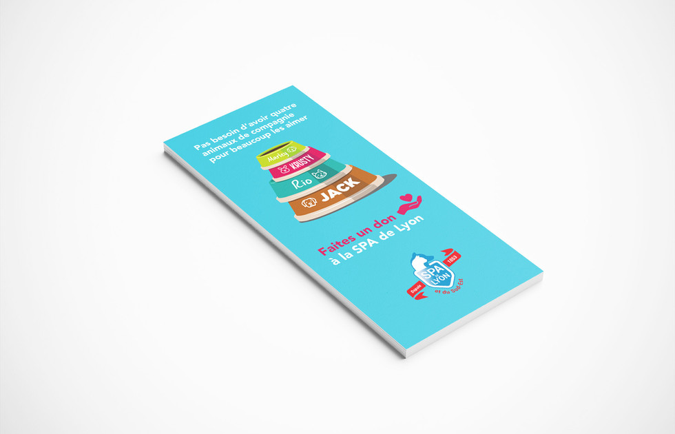 flyer campagne de dons SPA de Lyon
