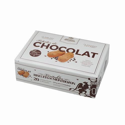 BOÎTE 20 BISCUITS DE MONTBOZON AUX PÉPITES DE CHOCOLAT
