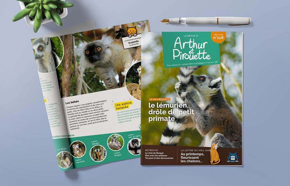 Magazine Arthur et Pirouette SPA de Lyon