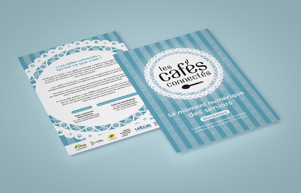 Flyer Les cafés connectés de l'UDCCAS du Doubs