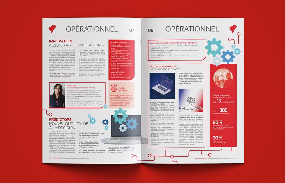 Magazine des sapeurs-pompiers du Doubs double page