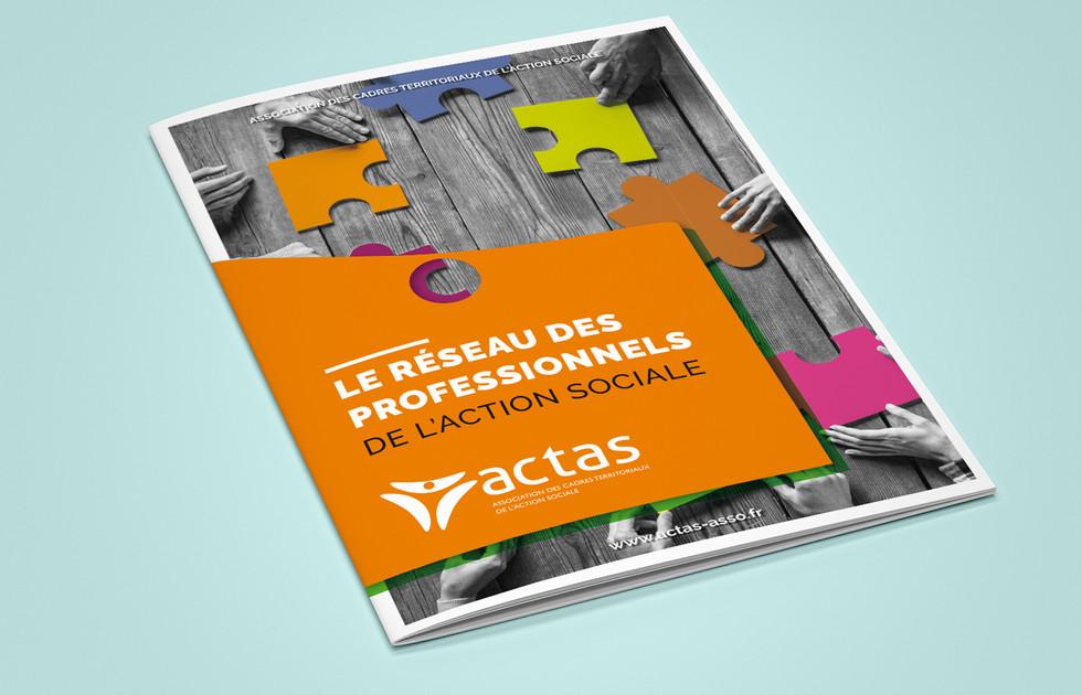Dépliant ACTAS, action sociale