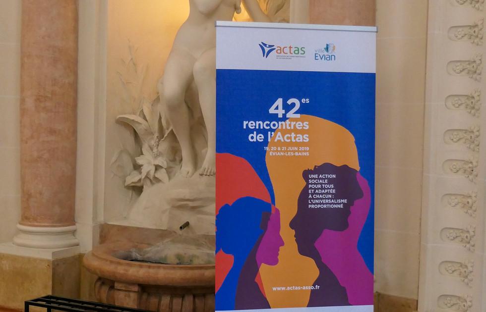 Roll up Rencontres de l'ACTAS action sociale - Évian-les-Bains