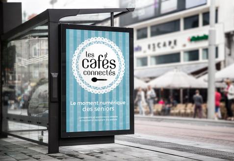 BRANDING - Les Cafés connectés, rendez-vous senior, CCAS du Doubs