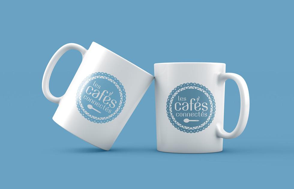 Les cafés connectés de l'UDCCAS 25 mug